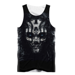 353c50de7276c2 SleeveleSS Skull Shirt men online shopping - Harajuku Tank Tops Men  Sleeveless Vest T Shirt Black