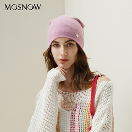 Knitted Hair Hat NZ - Winter Hats For Woman 2018 Beanies Rabbit Hair Knitted Hat Girls Autumn Female Beanie Warmer Bonnet Ladies Casual Cap 8 Color