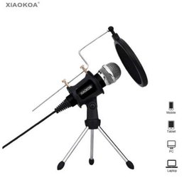 android phone microphone UK - Condenser Microphone for Phone with Stand for computer iphone 7 Recording Podcasting Mobile Android karaoke microfono XIAOKOA