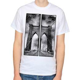 Bridge machine online shopping - 100 Cotton New T Shirts Crew Neck Short Sleeve Printing Machine Mens Brooklyn Bridge T Shirts