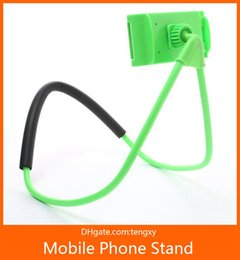 Selfie StickS for Sale online shopping - hot sale fashion Necklace Cellphone Support Holder Mounts Selfie Stick Stand Holder Tablet for iPhone X Plus Samsung S8