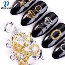 $enCountryForm.capitalKeyWord Australia - Blueness 100Pcs lot 3D Glitter Gold Silver Nails Art Decorations Eiffel Tower Diamond Design Manicure Nails Accessories Studs