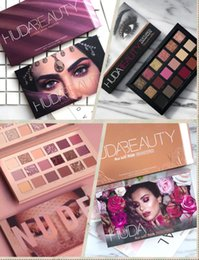 High quality huda beauty 18 Colors Eyeshadow Palette NUDE Rose Gold Textured Palette Makeup Eye shadow Beauty Palette Matte Shimmer