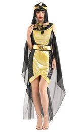 Chinese  Shanghai Story Woman Egyptian Pharaoh Queen Cosplays Female Halloween Goddess Costumes Carnival Purim Masquerade Dress manufacturers