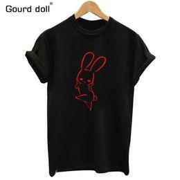 $enCountryForm.capitalKeyWord Australia - Gourd doll summer fashion women's cotton animal print T-shirt women's shirt T-shirt black white ladies large size S-XXL