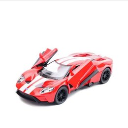 China High simulation 1:36 Scale Ford GT Alloy Car Model Metal Car Toys With Pull Back For Kids Gifts Free Shipping Collection supplier cars ford gt suppliers