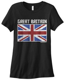 Wholesale Women s Tee Women s Flag Of Great Britain T shirt Uk England London Top Tees Summer Style Korean Brand T Shirts Middle Aged