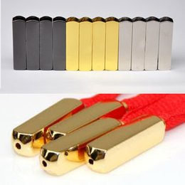 Metal Sneakers Australia - MEETEE High quality New Metal head Shoelaces Gold Silver laces tips for sneaker Square basketball shoe laces button Accessories FZ033