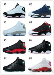 Wholesale train games resale online - With Box XIII basketball shoes men bred flints grey toe He Got Game hologram barons sport sneakers training shoes US