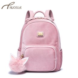 NUCELLE Women s Corduroy Backpack Ladies Fashion Elegant Double Shoulder Bags  Female Leisure Tassel Daily Travel Backpack bf6c3a0ceba54