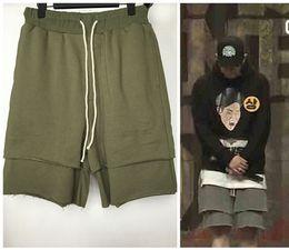 Men Big Crosses Canada - Justin Bieber Flase Two Men Cross Pants Summer Clothing Wear Fashion Loose Carpi Shorts Sweatpants Harem Shorts M-XL Big Yard
