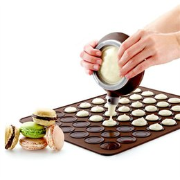 Decorative tool silicone online shopping - New Silicone Pad Baking Moulds For Macarons Round Make Cake Mold Device Kitchen Dining Bar Bakeware Tools Special Decorative device WX9