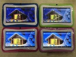 "A33 Quad Core Tablet Australia - 2018 Hot Kids Brand Tablet PC 7"" Quad Core children tablet Android 4.4 Allwinner A33 google player wifi big speaker protective cover 10pcs"
