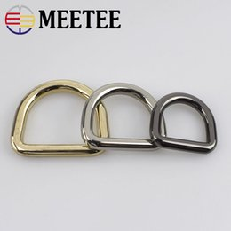 hardware connectors Australia - Meetee D Ring Metal Buckle For HandBag Purse Strap Belt Dog Collar Chain Connector Dee Clasp Bags Hardware Accessories