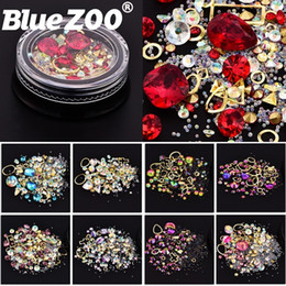 $enCountryForm.capitalKeyWord Canada - 1 Box Mixed Nail Design Colorful Micro Beads and Gemstone Circle 3D Nail Art Glitter Crystal AB Non Hix Diamond Rhinestones