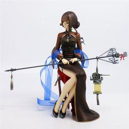 $enCountryForm.capitalKeyWord UK - Demishop Anime Warship girls Yat Sen cruiser Cheongsam Charming legs Ver Sexy 20cm PVC Action Figure Collection Model Toys