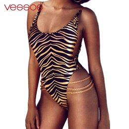 Discount swimming jumpsuits - Vessos Sunmmer Pool Jumpsuits Beach Wear Breathable Sexy Swimming Swimsuit Swimwear Leopard Polyester