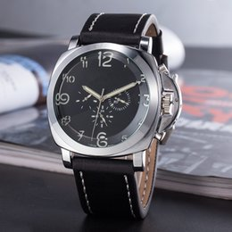 RetRo dates online shopping - Top Men Mechanical Stainless Steel dial Pan Watch Men Retro PU Leather Wristwatch