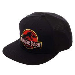 5784f558753 Jurassic Park Logo Flat Bill Adjustable Snapback Hat Cap Dinosaur T-Rex  Movie baseball cap men women