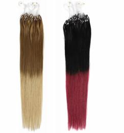 blonde human hair micro extensions 2019 - AAAAA Grade 1g*200s Straight 12''-22'' 24'' 26'' 28'' 30'' L