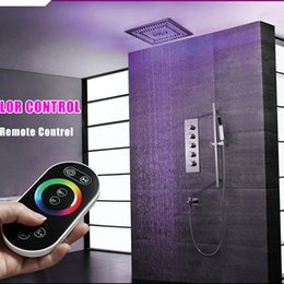 $enCountryForm.capitalKeyWord NZ - Intelligent Shower Set Thermostatic Luxury European Style Large SUS304 Misty Showerhead Bathroom Remote Control Led Ceiling