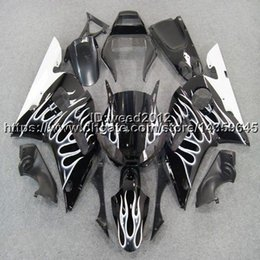 Bodywork Yamaha R6 NZ - 23colors+5Gifts silver flames motorcycle bodywork cover ABS fairing body kit for Yamaha YZF R6 1998 1999 2000 2001 2002 YZF-R6