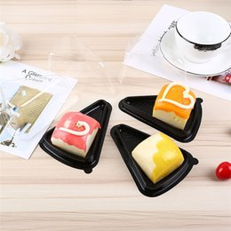 Cupcake Packaging Plastic Wholesale NZ - Triangle Plastic Cake Box six-inch Single Individual Cake Tray Boxes Plastic cake Pvc Boxes Food Gift Packaging Boxes A1002