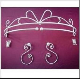 Pair Bedding Australia - Free shipping,wrought iron bed frame with 1 pair hook,mantle mosquito net frame curtain holder fashion princess iron rack