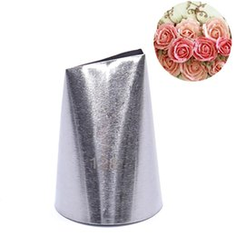 Chinese  Hot Sale #128 Rose Flower Metal Cream Tips Pastry Tool Stainless Steel Piping Nozzles Free Shipping manufacturers