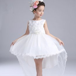 $enCountryForm.capitalKeyWord NZ - Fancy White Tailed Girls's Dresses Children Flower Girl Vestidos 2017 Fashion Kids Clothes For 3 To 14 Years Old AKF164096