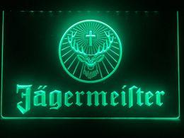 Vente en gros R061b- Enseigne lumineuse au néon à DEL avec tête de cerf de Jagermeister