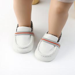 $enCountryForm.capitalKeyWord Australia - Newborn Shoes For Girls Boys Checkered PU Toddler Shoes First Walkers Baby Girl Soft Peas Baby Footwear