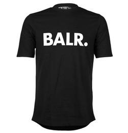 Chinese  Balr mens classic t shirt black cotton short sleeve BALR streetwear tee shirts round bottom blouse O-neck t shirt brand clothing summer D20 manufacturers