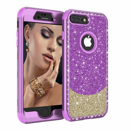 China Hybrid Rhinestone Glitter Bling Full Protective Case For iPhone 8 8 Plus 7 7Plus 6 6s 6 Plus XS X XR XS Max suppliers