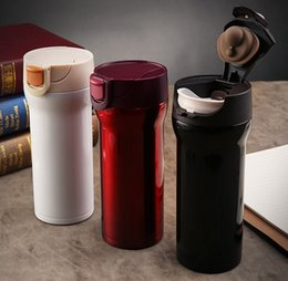 thermos lens 2019 - 350ml High Quality Stainless Steel Thermos Mugs Car Vacuum Flasks Anti -Dust Coffee Tea Milk Cups Thermocup Thermomug ch