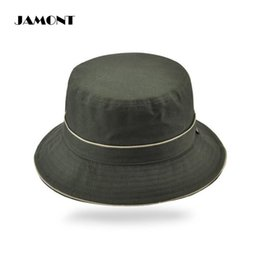 190c9b16264  JAMONT  Summer Solid Fishing Hat Fisherman Bucket Caps Outdoor Sport  Sunshade Folding Hats Since 1985 For Men Women 5 Colors