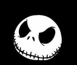 69 Halloween Pumpkin Head Terror Car Sticker Reflective Body Sticker La  Flower