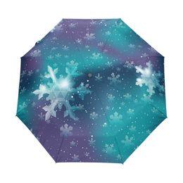 $enCountryForm.capitalKeyWord UK - Fully Automatic Custom Christmas Snowflakes Umbrellas Creative Design Sky Foldable Rain and Sun Women Umbrella with Carry Bag