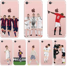 df20f31f7 Cases For iPhone 5 5S SE 6 6S PLUS 7 7 PLUS Ultra Thin Football Clear Phone  Football Superstar Winner Messi Ronaldo Rooney
