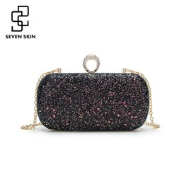 $enCountryForm.capitalKeyWord Canada - SEVEN SKIN Mini Women Day Clutch Bags New Sequined Purses for Female Chains Evening Bag for Party Women Shoulder Messenger Bag