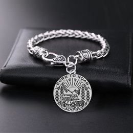 Camping Bracelets Canada - Men Retro Necklace Magic Thrones Car On The Boulevard SLIVER camping pendant Bracelet Best Gifts Present