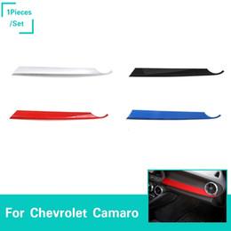 Venta al por mayor de Panel de copiloto Adorno de decoración para Chevrolet Camaro 2017+ ABS 4 colores 1 piezas Interior del coche Accesorios