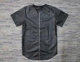 $enCountryForm.capitalKeyWord Australia - men leather t-shirt rapper hiphop dancer zip tee tyga streetware lk INS fashion shirt
