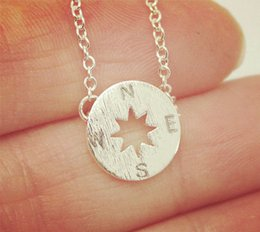 $enCountryForm.capitalKeyWord Canada - 5PCS Gold Silver Tiny Small Compass Bracelets Simple North South Bracelets Coin Disc Circle Disk Direction Bracelets Coin Jewelry