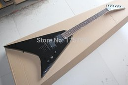 Guitar Factories Canada - Free Shipping Factory Custom Shop 2015 new black Jack son Flying V Electric Guitar 3 23