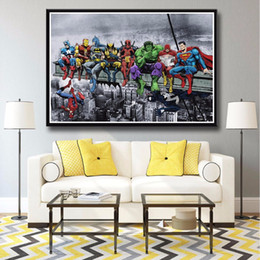 marvel canvas prints 2019 - J0324 Superheros Marvel DC Comics SKYSCRAPER Pop Hot New Top Art Print Poster Silk Light Canvas Painting Wall Picture Ho
