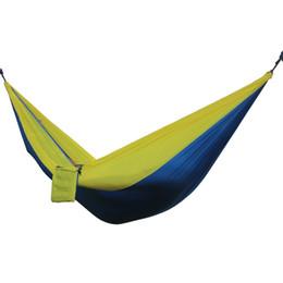 $enCountryForm.capitalKeyWord UK - 2018 Portable Outdoor Hammocks 2 Person Garden Sport Leisure Camping Hiking Travel Kits 6 colors Hanging Bed Hammocks