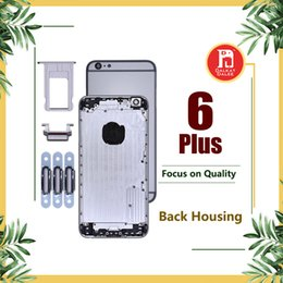 add6876b8de Back Housing Battery Cover Coque for iPhone 6 Plus with LOGO & Buttons &  Sim Tray +Custom IMEI Fundas Chassis Rear Door Middle Body Panel