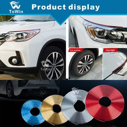 wheel trimmer UK - DIY Car Wheel Hub Trim Strip,Colorful Trim Strip for Auto Wheel Hub,Modification for General Cars Universal Tire decoration reflective.