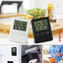 Wholesale digital count up down timer Large LCD Kitchen Cooking Alarm Magnetic Hot multi colors with white retail box